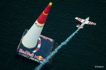 Paul Bonhomme of Great Britain flies during the finals of the second stage of the Red Bull Air Race World Championship in Rovinj, Croatia on April 13, 2014. // Jörg Mitter/Red Bull Content Pool