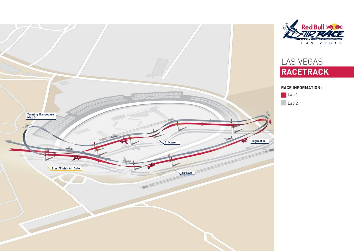 Track overview of the Red Bull Air Race World Championship 2016 Stop 8 Las Vegas, Nevada, USA on October 5, 2016 // P-20161005-00203 // Usage for editorial use only // Please go to www.redbullcontentpool.com for further information. //