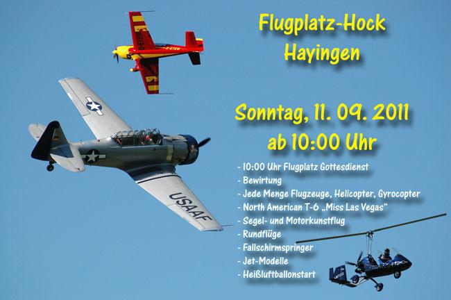 Flugplatzhockete Hayingen 2011