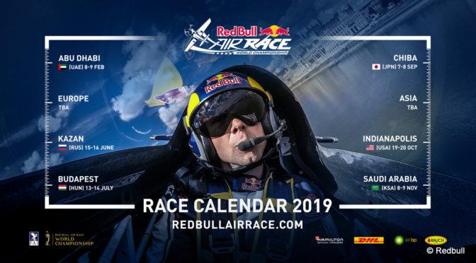 Red Bull Air Race: Rennkalender 2019 bekanntgegeben