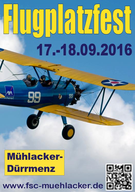 Flugplatzfest Mühlacker-Dürrmenz 17.09. – 18.09.2016