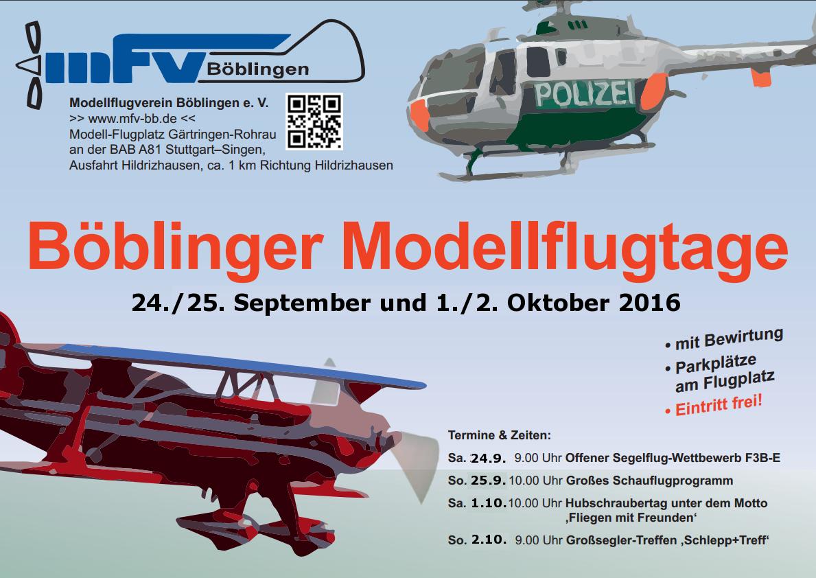 Böblinger Modellflugtage 2016