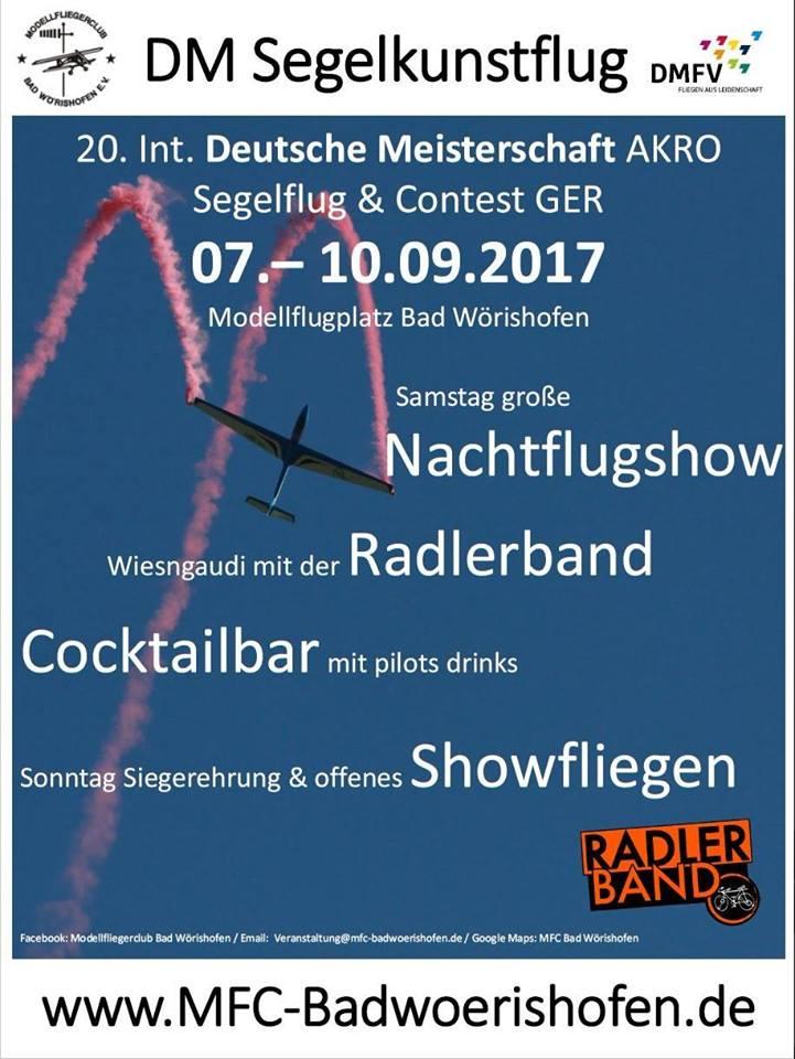 DM Akro-Segelflug Bad Wörishofen 07.09. - 10.09.2017