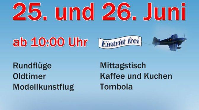 Flugplatzfest Bopfingen 25.06. – 26.06.2016