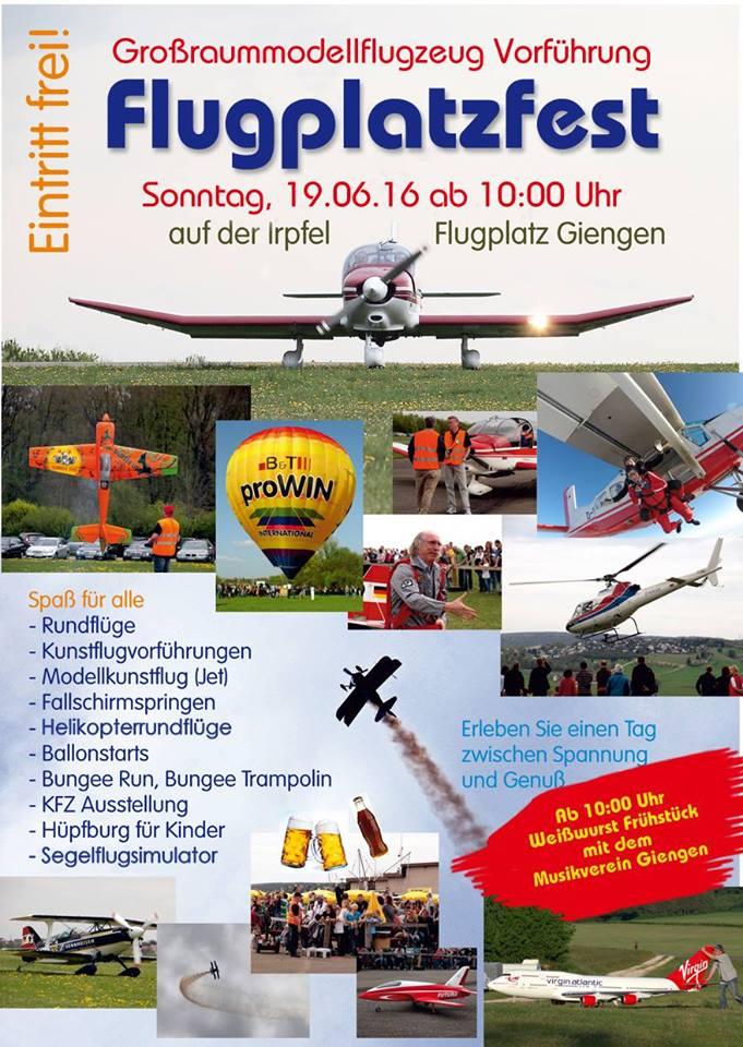 Flugplatzfest Giengen 2016