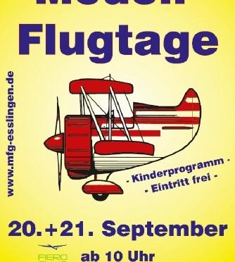 Abgesagt: Modellflugtage MODELLFLUGGRUPPE im AERO CLUB ESSLINGEN – NECKAR e.V. 20.09. – 21.09.2014