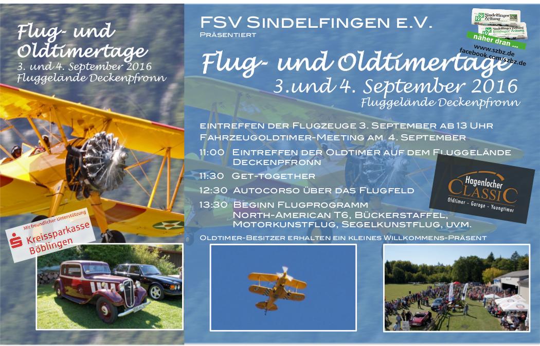 Flug- und Oldtimertage Deckenpfronn 2016