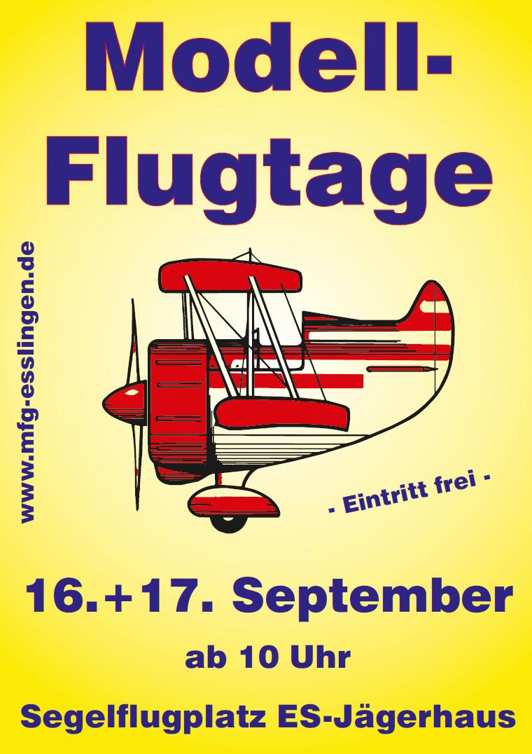 Modellflugtage Esslingen 16.09. - 17.09.2017