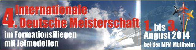 4. Internationale Meisterschaft im Formationsfliegen mit Jetmodellen 2014