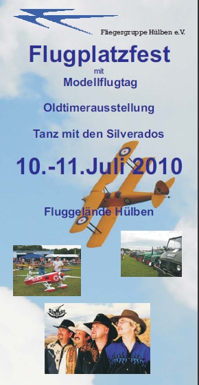 Flugplatzfest mit Modellflugtag Hülben 10.07. - 11.07.2010