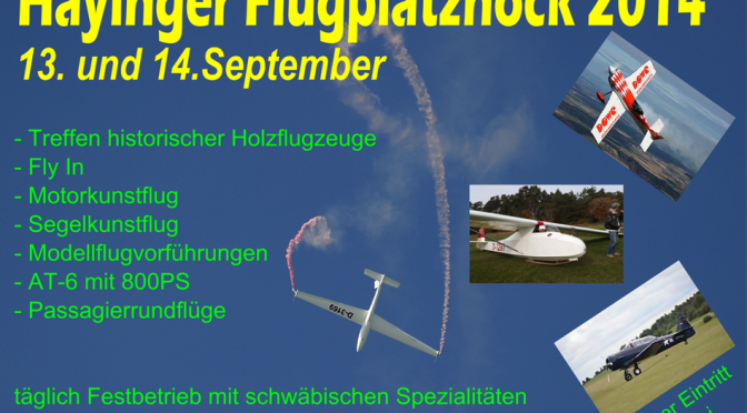 Hayinger Flugplatzhock 13.09. -14.09.2014