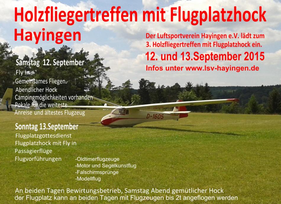 Holzfliegertreffen mit Flugplatzhock 2015