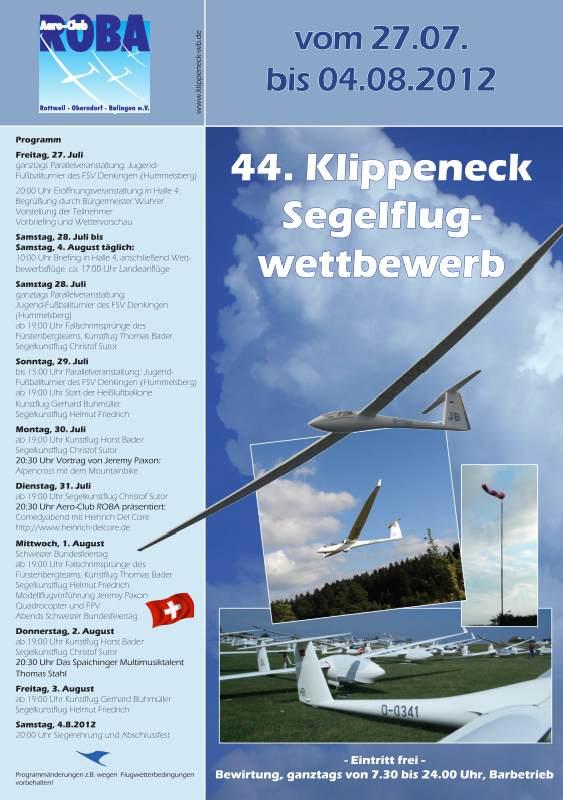 44. Klippeneck Segelflugwettbewerb 2012