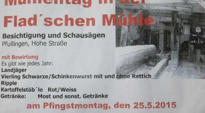 Deutscher Mühlentag Flad Sägemühle 25.05.2015