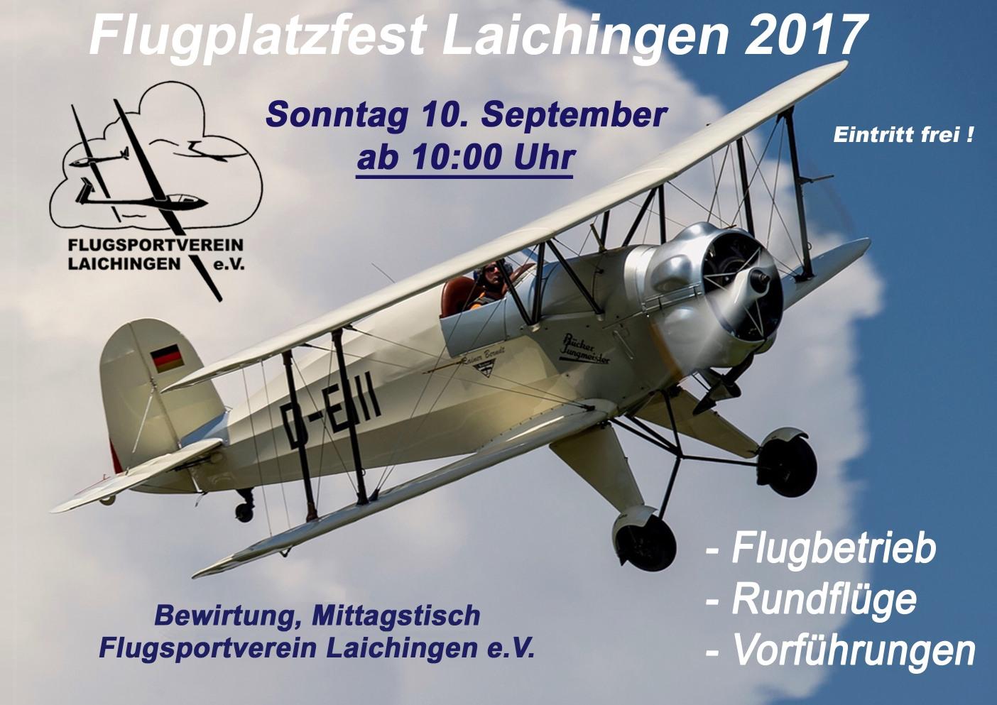Flugplatzfest Laichingen 2017