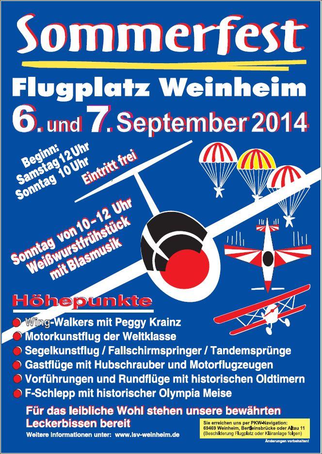 Sommerfest Flugplatz Weinheim 2014
