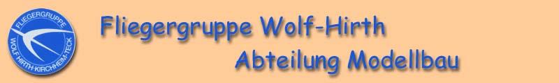 Fliegergruppe Wolf-Hirth; Abt. Modellflug