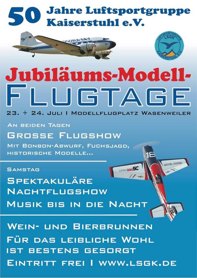 Jubiläums Modellflugtage der LSGK Wasenweiler 2016